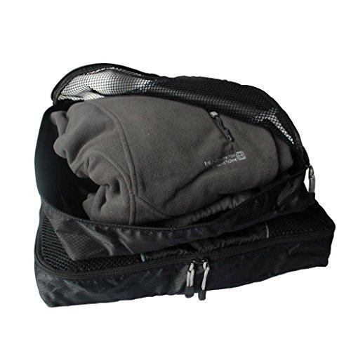 KurtzyTM 3 teiliges Set Schwarz Koffertaschen Gepäck Packtaschen-Klein, Mittel, Groß Reise Gepäck