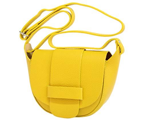 AmbraModa Bolso pequeño de piel italiana, bolso de mujer, bolso de bandolera para mujer GL022...