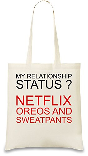 my-relationship-status-netflix-oreos-sweatpants-funny-bolso-de-mano