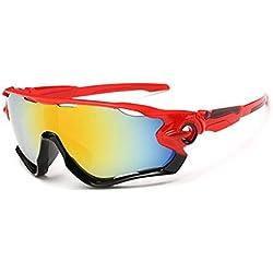 Kry gafas de sol para deportes, UV400, para conductor, de golf, para hombre, Golf, Pesca, Montura de metal irrompible, hombre, color rojo & negro, tamaño 145mm * 50mm * 122mm
