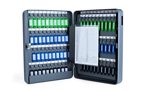 Pora Schlüsselkasten Verschiedene Größen von 20 bis 300 Schlüsselhaken (140 Haken, grau)