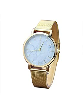 Armbanduhr Für Mädchen, OVERMAL Damen Marmor Oberflächen Edelstahl Band Quarz Bewegungs Armbanduhr