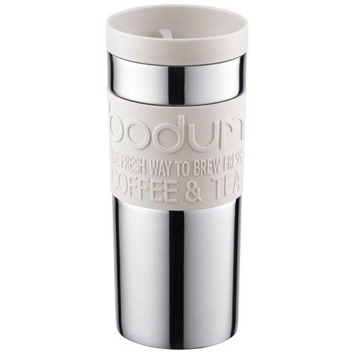 Bodum TRAVEL MUG Vacuum, 0.35 L - Small, White Test