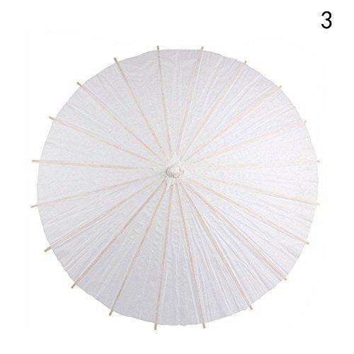 r Umbrella Hochzeit Party Fotografie Prop White Paper Regenschirm Bambus Braut Sonnenschirm viel DIY kann von selbst gemalt werden (40mm) (Diy Sonnenschirm)