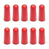 10 x Fermaporta/Respingente per porta | Sossai T9-73 | il modello: Anton | Colore: rosso | Protezione da parete idonea per il montaggio a pavimento |Materiale: Plastica TPE