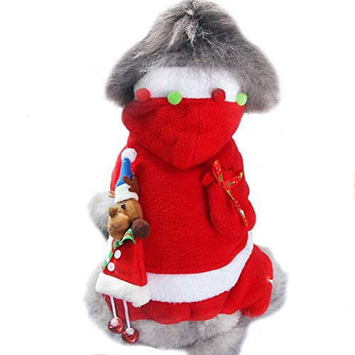 Pet Dog Cat Clothes Fancy Puppy Christmas Outfit Dress Costume (Color : Girl, Size : XL) (Cat Outfit Dress Fancy)