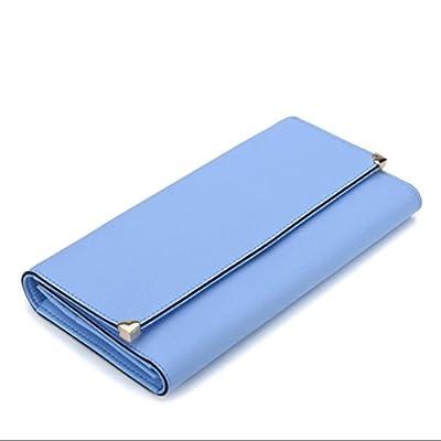 ZLR Mme portefeuille Porte-monnaie à la longue à la dame 3 sacs à main multidimensionnels en cuir pliant