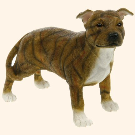 Brown & White Staffordshire Bull Terrier Dog Figurine by The Leonardo Collection