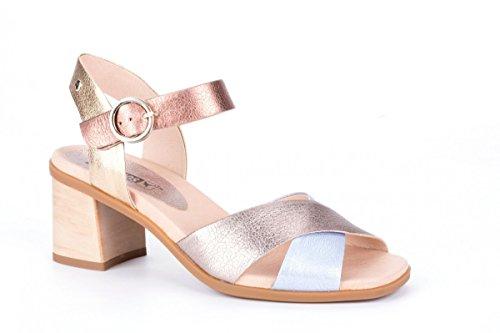 Sandali Pikolinos Denia W2r-1638clc1 Sandali Con Il Cinturino In Pelle Metallizzata Oro