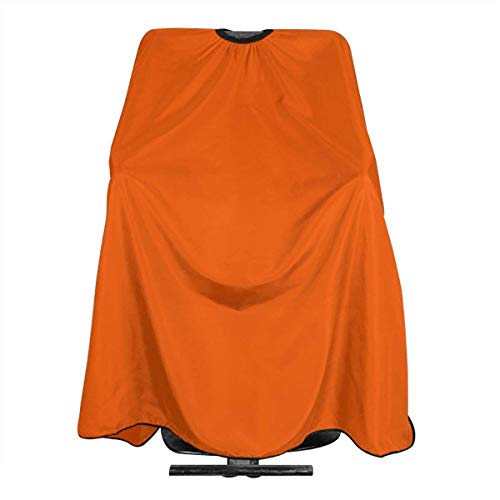 Orange Background Personalized Custom Professional Friseursalon-Schürze, Polyester Hair Shawl 55