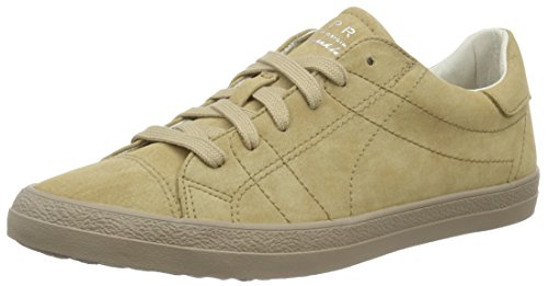 ESPRIT Damen Miana Lace Up Sneakers, Braun (250 Khaki Beige), 39 EU (Beige Khaki Lace Up)