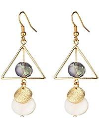 ba689001163d Triángulo Mujer Aretes Pendientes Aro Fantasia Gota Cristal Brillantes  Aretes Aretes Joyeria Dorado