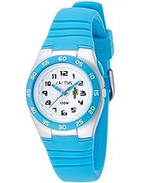 Cactus CAC-75-M03 - Reloj de pulsera niños, Plástico, color Turquesa