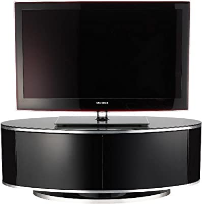 """MDA Designs Luna High Gloss Oval TV Cabinet for up to 50"""" TV's"""