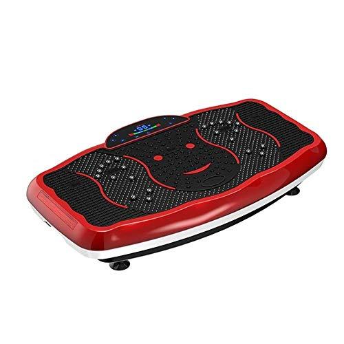 QNJM Fitnessgerät Vibrationsplattform Fit Massage Workout Trainer, Vibrationsplatte - for Gewichtsverlust & Körperstraffung (Color : Red)