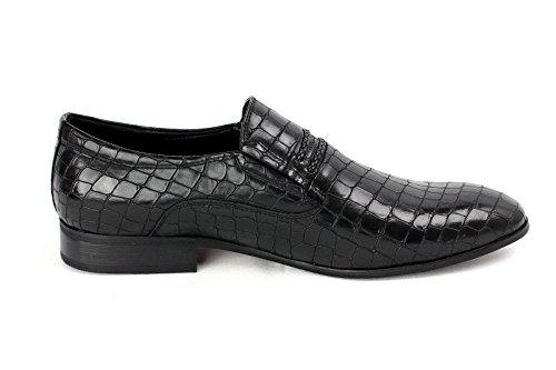 Hommes A Enfiler Chaussures Décontractées Smart Noir