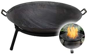 XXL Allwetter Qualitäts Feuerschale 60cm Feuerstelle Feuerkorb Terassenfeuer