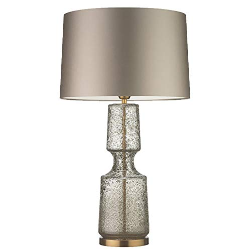 Moderne Stahl-kaffee-tisch (Vinmin Glas Tischlampe, Moderne Glas Tischlampe, postmoderne minimalistische Glas Kunst Tischleuchte mit Klarglas und Stahl Basis für Schlafzimmer Wohnzimmer Kaffee Schreibtischlampe,Amber,S)