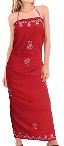 ricamati annata beachwear donne bikini costumi da bagno sarong rayon coprire involucro Rosso Affascinante