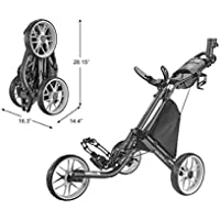 Caddytek CaddyLite V8-Dark Grey EZ-Fold-Carrito de Golf de 3 Ruedas, Color Gris Oscuro, Unisex Adulto, Talla única