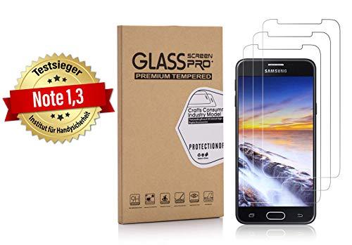 Weinstock-Science | 3X bruchsicheres Panzerglas für Samsung Galaxy J5 2017 / J5 2017 Duos | Schutzfolie aus 9H Echt Glas