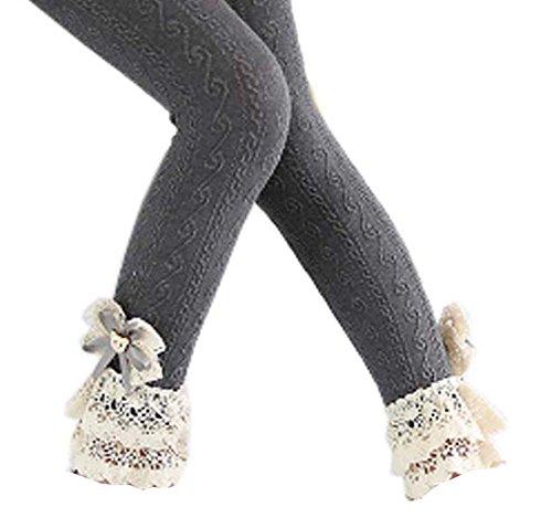 ace Mädchen Strümpfe Mode Leggings Hosen für Frühjahr / Herbst, # 05 (Orange Und Rosa Gestreiften Strumpfhosen)