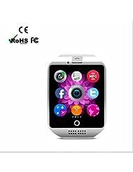 GPS Sportuhr Herzfrequenzmesser Fitness Pulsuhr Laufuhr Smartwatch,Beschleunigungssensor,Schrittzähler,Kalorienzähler,Leben wasserdicht,Elegantes aussehen für iPhone Samsung Smartphone