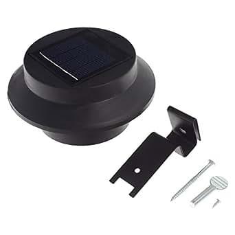 Smartfox LED Solar Garten Wandleuchte rund wetterfest mit Auto On/Off in schwarz, Leuchfarbe: warmweiß