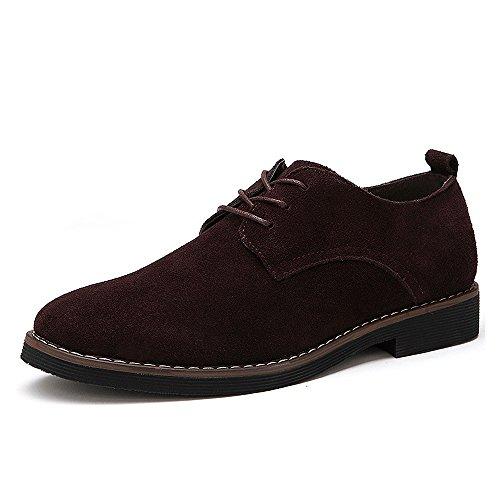 best service d1ff5 f974b CCZZ Zapatos de Cordones de Ante para Hombre Zapatos de Cuero Casual Oxford