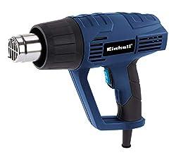 Einhell Heißluftpistole BT-HA 2000/1 (2000 W, max. 550 °C, 2 Heizstufen/Luftmengen, inkl. umfangreiches Zubehör, im Koffer)