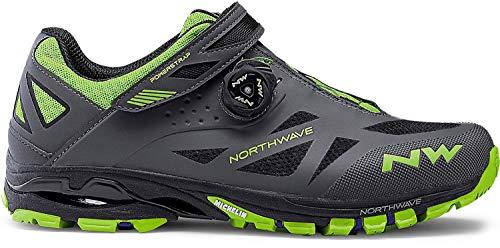 Northwave Spider Plus 2 MTB Trekking Fahrrad Schuhe grau/grün 2019: Größe: 47