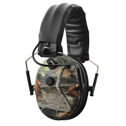 PROTEAR Elektronische Jagd Schießen Gehörschutz, Noise Reduction Sound Verstärkung Elektronische Sicherheit Gehörschutz-NRR 25dB, Professionelle Rauschunterdrückung Kopfhörer für die Jagd (Camouflage)