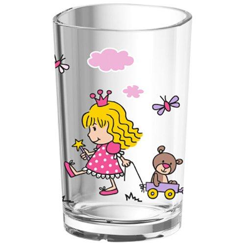 Emsa 516274 Kinder-Trinkglas Kids, 0, 2 Liter, Motiv: Princess