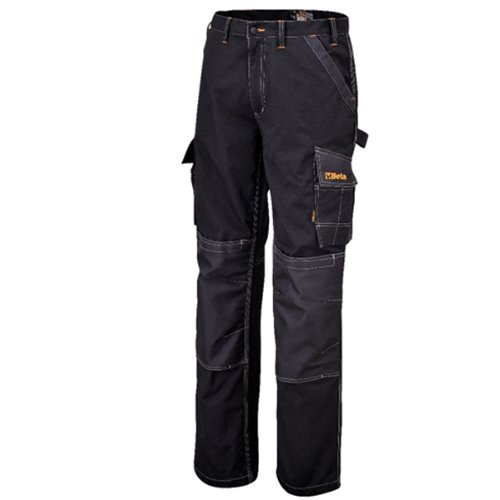 Beta Pantaloni da lavoro multi tasche porta utensili cerniera neri 7815N (XXL)