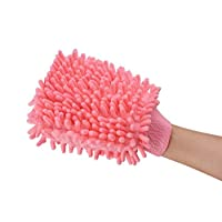 IPENNY Premium Microfiber Car wash Mitt Cleaning Gloves Ultra-soft Cleaning Cloth Car Dust Brush Washing Clean Block Towel For Car Cleaning & Household Cleaning