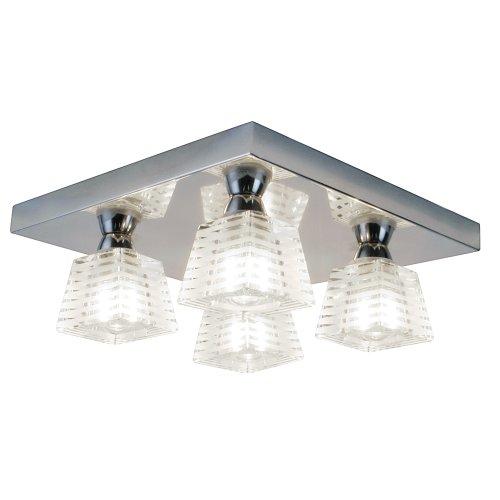 Pyxis K9 Glass 4 Light Bathroom Ceiling Light