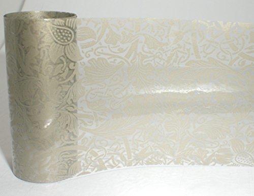 1,0m Nail Art Foil trasferimento/Scratch film fo: # 115champagne pizzo/Vine Champagne punta (trasparente)