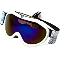 Roxy Loola2 G Sngg Wbb6 Snowboard Goggles, Niñas, Blanco Claro (alska Bird), Talla Única