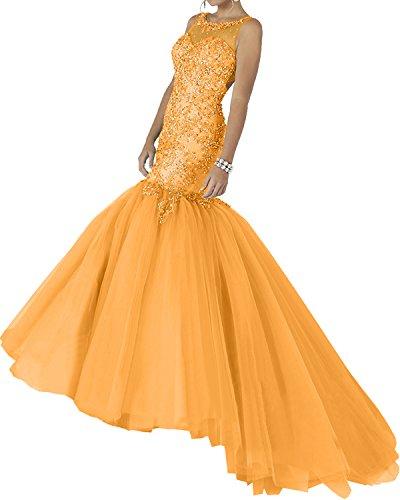 Milano Bride Elegant Minze Gruen Elegant Satin Strasse Abendkleider  Ballkleider Festliche Kleider Meerjungfrau Lang Orange