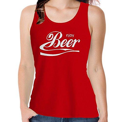 Genießen Sie Snoogg Bier Baumwolle Damen Mädchen Freizeit Westen Sleeveless Tank Tops Leibchen Beach Wear