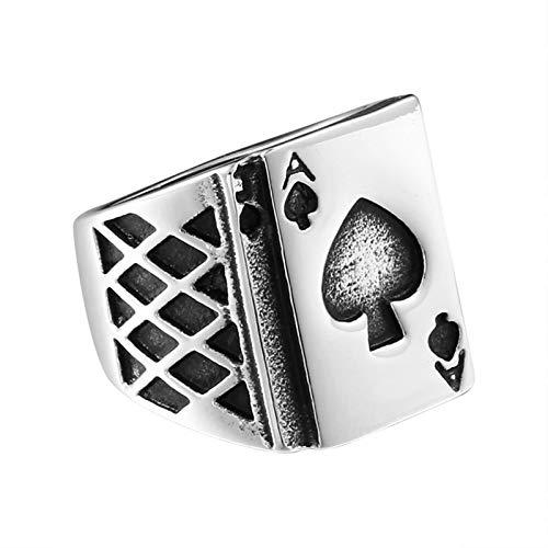 en Ring Poker Spaten A Silber Partnerringe Gothic Silber Ring Größe 65 (20.7) ()