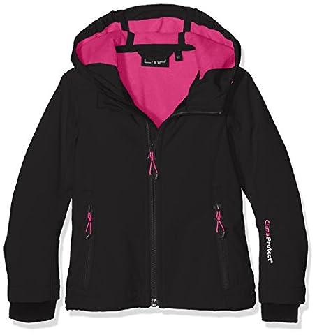 CMP Mädchen Softshelljacke 3A29385N Jacke, Nero-Hot Pink, 92