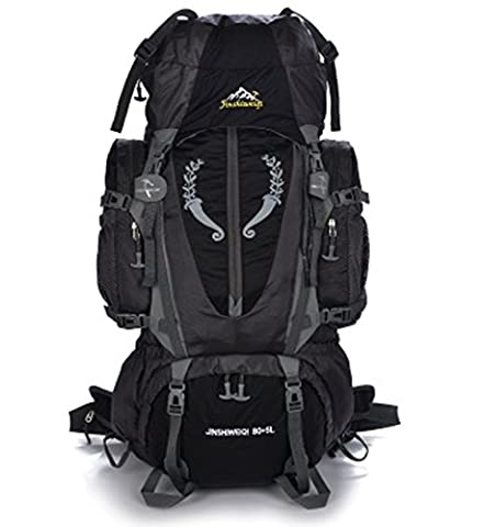 Large 80+5L Hiking Camping Outdoor Sports Internal Frame Backpack Water Resistance Daypack Traveling Racksuck