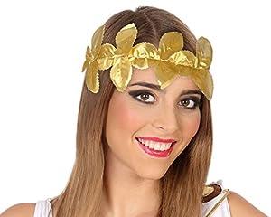 Atosa-49290 Diadema Laurel Romano, Color Dorado (49290