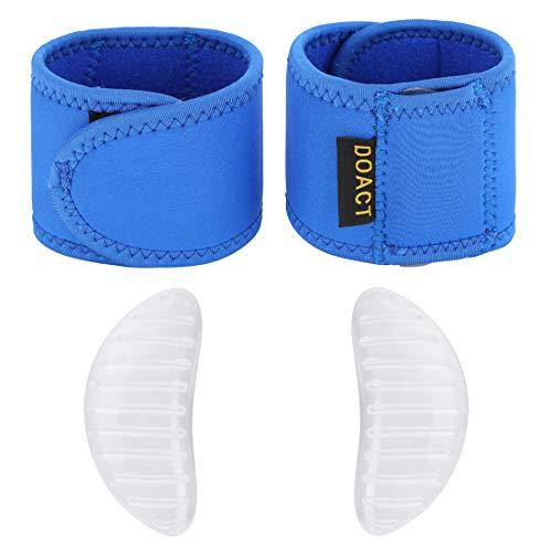 Doact Gepolsterte Kompression mit Gel Fußgewölbe Arch Brace Support Fallen Comfort für Frauen und Männer Plantar Fasciitis el Fersensporen, Flache Füße und Achy Fußschmerzen -