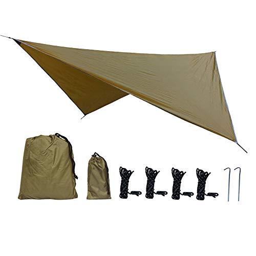 Camp UV-Schutz Regen Markise Outdoor Zelt Camping Camping Übergroße Zelt Camping Picknick Matte Strand Seaside Park, Bergwald,Brass ()