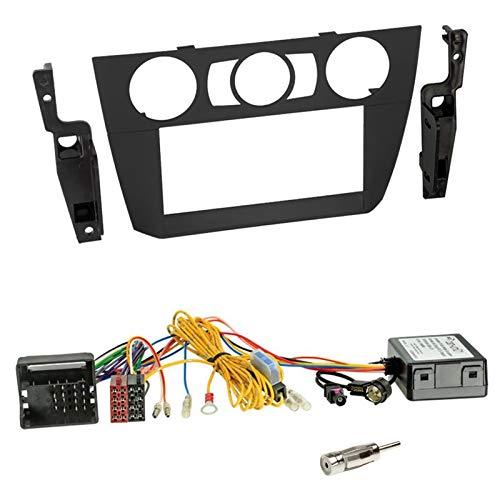 Einbauset: Doppel 2-Din Blende Radioblende Halterung + Can Bus Adapter/Interface für BMW 3er E90 E91 E92 E93 2005-2013