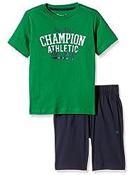 Campeón niños Set, Negro Iris/Oxford Gris, XS, 304223_S16 Verde Green/Black Iris Talla:S