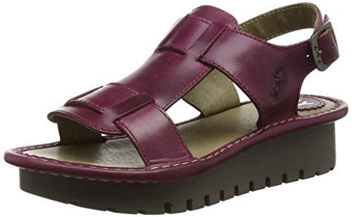 FLY London KANI, Sandales Compensées femme Violet - Purple (Magenta)