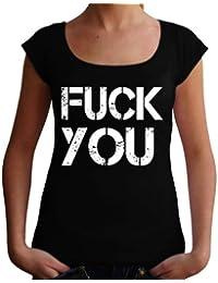 Damen Kurzarm Girlie T-Shirt Fuck off funny sayings lustige Sprüche Geschenk